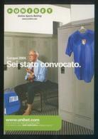 *Unibet - Online Sports Betting* Fabricación Italiana Año 2004. Nueva. - Fútbol