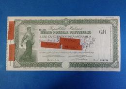 REPUBBLICA ITALIANA BUONO POSTALE FRUTTIFERO LIRE DUECENTOCINQUANTAMILA 250.000 ANNO 1981 - Banca & Assicurazione