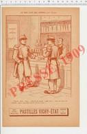 2 Scans 1909 Humour Débit De Boissons Bistro Café Verre De Blanche (Armagnac ?? Alcool ?) Vie En Rose Soldats 223CH14 - Old Paper