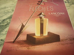 ANCIENNE PUBLICITE PARFUM FLECHES DE LANCOME 1951 - Parfums & Beauté