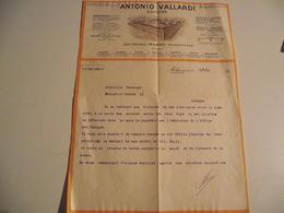 Facture, ITALIE, MILAN , 1941, Antonio Vallardi, Editeur - Italie