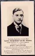 Oorlogsslachtoffer, 1943, Lucien Van Der Straeten, B?V?L? Lokeren, Sint-Amandsberg, Hameln, Görden-Brandenburg - Devotieprenten