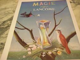 ANCIENNE AFFICHE  PUBLICITE PARFUM MAGIE  DE LANCOME 1951 - Parfums & Beauté