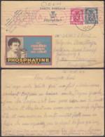 BELGIQUE 1944 EP 50c Pub 525 + 423 De LOBBES Vers GOTHA  + Censure (DD) DC-1319 - Stamped Stationery