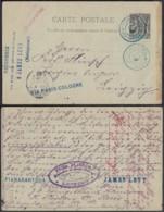 MADAGASCAR EP 10c De FIANARANTSOA En Bleu  Du 08/12/1902 Vers ALLEMAGNE  (6G19424) DC-1338 - Covers & Documents