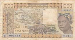 Billet  De Banque  Affrique De L' Ouest 1000 Francs - États D'Afrique De L'Ouest