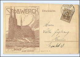Y11079/ Köln  Gebr. Stollwerck  Schokolade AK 1915 - Koeln