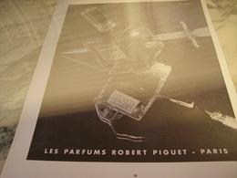 ANCIENNE PUBLICITE PARFUM BANDIT DE ROBERT PIGUET 1953 - Parfums & Beauté