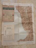 6) CALABRIA FOGLIO 47 COSENZA CARTA D'ITALIA DEL TOURING CLUB COMPLETO DI INDICE E BUSTA IN CARTA PERGAMENACEA - Cartes Topographiques