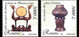 ROMANIA 2004 Joint Stamp Issue Romania – China, Lacquer And Ceramics - Emisiones Comunes