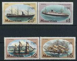 1980 Mauritius, London 1980 Navi Battelli Barche , Serie Completa Nuova (**) - Mauritius (1968-...)