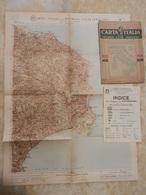 6) CALABRIA FOGLIO 44 CATANZARO CARTA D'ITALIA DEL TOURING CLUB COMPLETO DI INDICE E BUSTA IN CARTA PERGAMENACEA - Cartes Topographiques