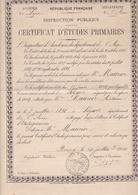 ACADEMIE LYON / SEYSEL / AIN / CERTIFICAT D ETUDES PRIMAIRES 1904 / MR MAURIER - Diplômes & Bulletins Scolaires
