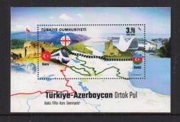 2.- TURKEY 2017 JOINT ISSUE WITH AZERBAIJAN - TRAIN RAILWAYS - 1921-... République