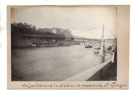 Lyon.  Les Joutes Sur La Saône Et Passerelle St Georges. - Sonstige