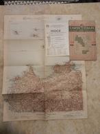 6) SICILIA FOGLIO 48 PALERMO CARTA D'ITALIA DEL TOURING CLUB COMPLETO DI INDICE E BUSTA IN CARTA PERGAMENACEA - Cartes Topographiques