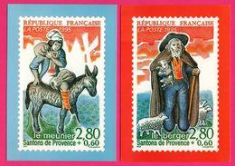 7 Cp Timbre Santons Provence - Tambourinaire - Rémouleur - Berger - Meunier - Poissonnière - Yvonne Printemps - GOFFIN - Stamps (pictures)