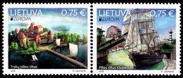 Lithuania - 2018 - Europa CEPT - Bridges - Mint Stamp Set - Lithuania