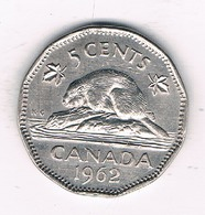 5 CENTS 1962 CANADA /0212/ - Canada