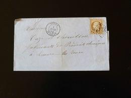 LETTRE DE ROUEN POUR LESCURE LES ROUEN  -  1864  - - Marcophilie (Lettres)