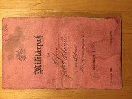 Militärpass Von 1915 Bayern/Pfalz - Diplome Und Schulzeugnisse