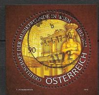 2012.  Austria  Mi.  Bl 68  Used 200 Jahre Gesellschaft Der Musikfreunde In Wien - Blocks & Kleinbögen