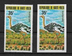 """HAUTE-VOLTA 1979 BIRDS """"ostriches"""" - Autruches"""