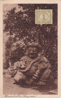 HINDU ANCIENT STATUARY REMAIN. JAVA. OBLITERE 1922 - BLEUP - Indonesië