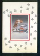 Gato Y Peces. Ed. A. G. Ricordi Nº 1738. Serie *De Luxe* Nueva. - Gatos