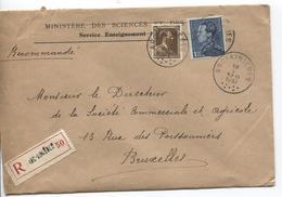 PR6140/ TP 427-430 Portman S/L.recommandée C.Arc - Ainières 1937 V.BXL - Belgium
