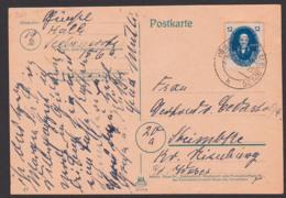 Max Planck, Nobelpreisträger, Physiker DDR 266 Auf Karte Aus Halle (Saale) 9.9.50, Portogenau - Lettres & Documents