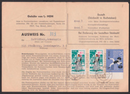 Sammlerausweis, Stollberg, Formular 1967, Gefaltet, 40 Pf (2) Trachten Spreewald Crostwitz Chroscicy, Gewichtheben 1966 - Lettres