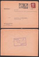 """Paece, Frieden Gummist. """"Unsere Arbeit Dient Dem Frieden!"""" Behördenpost 1951, Berlin Trreffen Jugend Der Welt, Akademie - DDR"""