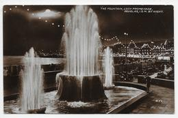 The Fountain, Loch Promenade, Douglas, I.O.M. By Night - Valentine R 77 - Isle Of Man