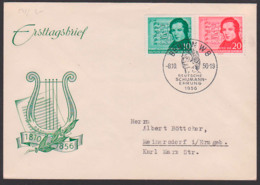 DDR FDC 541/02, Deutsche Schumann Ehrung 1810 - 1956, Musiker Komponist - [6] République Démocratique