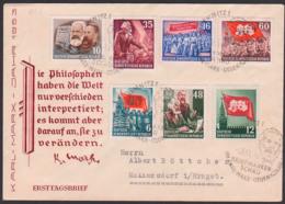 DDR FDC Karl-Marx-Jahr SoSt. Chemnitz Briefmarkenschau, Alle Werte Mit Ausgabetag 5.5.53 Als FDC, Engels, Stalin - DDR