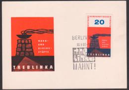 MC Treblinka (Polen) Denkmal Mit Flammenschale 20 Pf. DDR 538, Offiz. Ansichtskarte Ungelaufen, FDC - Cartas Máxima