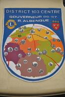 Rare Fanion Lion's Club Gouverneur Albanque 1986/1987 - Organisations