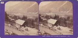 Carte Stéréoscopique .  2318.  CHAMONIX  PRIS DU CHEMIN DU MONTANVERS   -  J. A. - Chamonix-Mont-Blanc