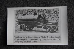 A White Five Ton Truck ( Oil Company Of NEW YORK). - Automobiles