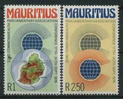 1976 Mauritius, Associazione Prlamentare , Serie Completa Nuova (**) - Mauritius (1968-...)
