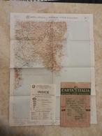 6) SARDEGNA FOGLIO 46 CAGLIARI CARTA D'ITALIA DEL TOURING CLUB COMPLETO DI INDICE E BUSTA IN CARTA PERGAMENACEA - Cartes Topographiques