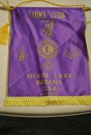 Rare Fanion Lion's Club Silver Lake Indiana USA - Organisations
