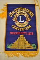 Rare Fanion Lion's Club 55 Convention Internationale Mexico 1972 - Organisations
