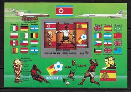 COREE DU NORD      BF  * *  NON DENTELE  SURCHARGE Cup 1982   Football  Soccer  Fussball - World Cup