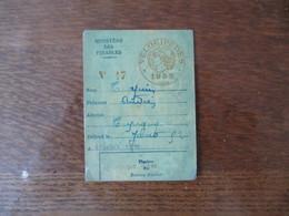 VELOCIPEDES 1952 MINISTERE DES FINANCES - Fiscale Zegels