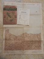 6) SICILIA FOGLIO 50 CEFALU' CARTA D'ITALIA DEL TOURING CLUB COMPLETO DI INDICE E BUSTA IN CARTA PERGAMENACEA - Cartes Topographiques