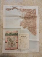 6) CAMPANIA FOGLIO 41 SALERNO CARTA D'ITALIA DEL TOURING CLUB COMPLETO DI INDICE E BUSTA IN CARTA PERGAMENACEA - Cartes Topographiques
