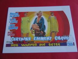 MARILYN MONROE  Film Affiche Belge Some Like It Hot Certains L'aiment Chaud 1959 EDIT Hazan N° Actrice Artiste Chanteuse - Entertainers