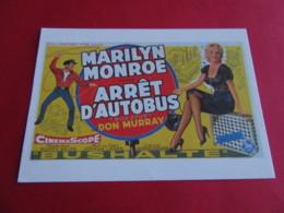 MARILYN MONROE Affiche Belge  Arret D Autobus Bus Stop Film 1956 EDIT Hazan N° Actrice Artiste Chanteuse - Entertainers
